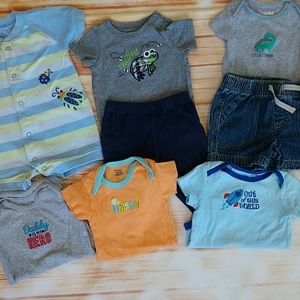 Bundle of baby boy 💙 clothes. Size 3 mo.